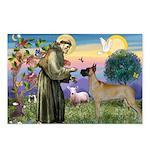 Saint Francis' Great Dane Postcards (Package of 8)