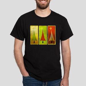 CONTEMPORARY CHRISTMAS TREES Dark T-Shirt