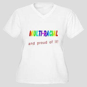 Multi-racial Plus Size V-Neck T-Shirt