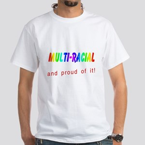 Multi-racial White T-Shirt