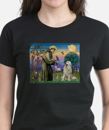 St. Francis & Great Pyrenees Women's Dark T-Shirt