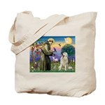 St. Francis & Great Pyrenees Tote Bag