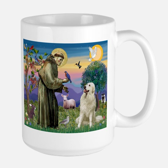 St. Francis & Great Pyrenees Large Mug