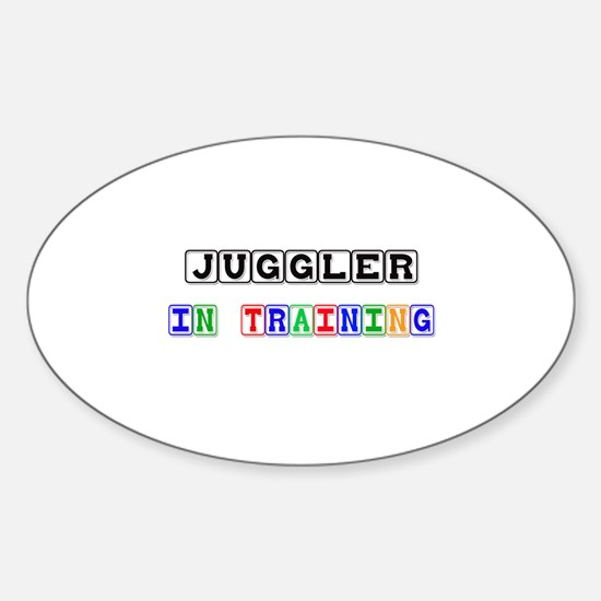 Juggler In Training Oval Decal