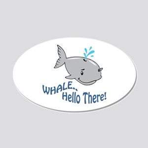 Whale Hello There Wall Decal