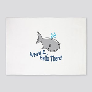 Whale Hello There 5'x7'Area Rug
