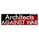 Architects against war bumper sticker