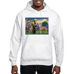 St Francis / Greyhound (f) Hooded Sweatshirt