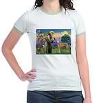 St Francis / Greyhound (f) Jr. Ringer T-Shirt