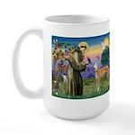 St Francis / Greyhound (f) Large Mug