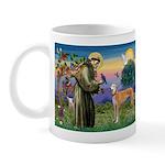 St Francis / Greyhound (f) Mug