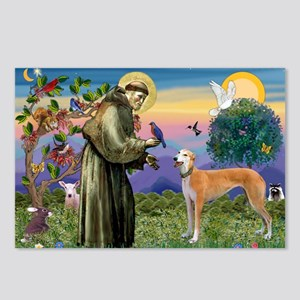 St Francis / Greyhound (f) Postcards (Package of 8
