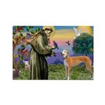 St Francis / Greyhound (f) Rectangle Magnet