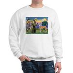 St Francis / Greyhound (f) Sweatshirt