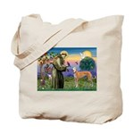 St Francis / Greyhound (f) Tote Bag
