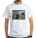 St Francis / Greyhound (f) White T-Shirt