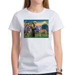St Francis / Greyhound (f) Women's T-Shirt