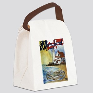 Maryland Lighthouse Canvas Lunch Bag