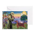 St. Fran./ Irish Setter Greeting Card