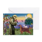 St. Fran./ Irish Setter Greeting Cards (Pk of 10)