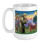 St. Fran./ Irish Setter Large Mug