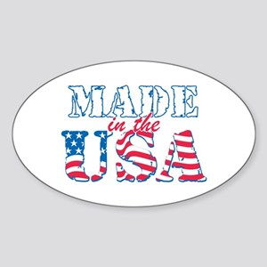 Made in the USA Sticker (Oval)