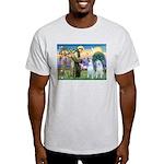 St Francis / 2 Irish Wolfhounds Light T-Shirt