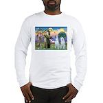 St Francis / 2 Irish Wolfhounds Long Sleeve T-Shir