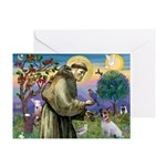 St. Francis & Jack Russell Terrier Greeting Card