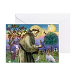 St. Francis & Jack Russell Terrier Greeting Cards