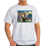 St. Francis & Jack Russell Terrier Light T-Shirt