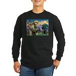 Saint Francis & Black Lab Long Sleeve Dark T-Shir
