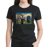 St Francis Chocolate Lab Women's Dark T-Shirt