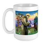St Francis Chocolate Lab Large Mug