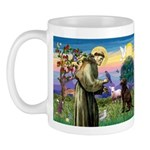 St Francis Chocolate Lab Mug