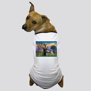 St Francis/Yellow Lab Dog T-Shirt