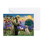 St Francis/Yellow Lab Greeting Cards (Pk of 20)