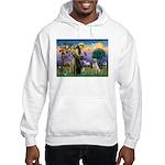 St Francis/Yellow Lab Hooded Sweatshirt