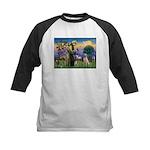 St Francis/Yellow Lab Kids Baseball Jersey