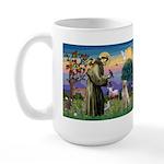 St Francis/Yellow Lab Large Mug