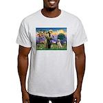 St Francis/Yellow Lab Light T-Shirt