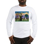 St Francis/Yellow Lab Long Sleeve T-Shirt