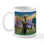 St Francis/Yellow Lab Mug