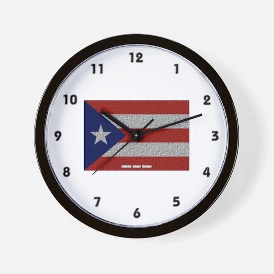 Puerto Rico Cloth Flag Wall Clock