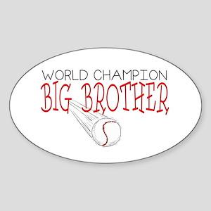 Baseball Big Brother Oval Sticker