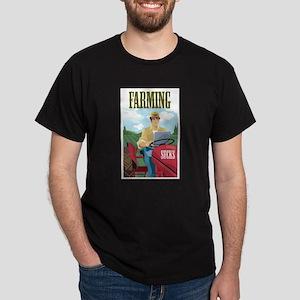 Farming Sucks Dark T-Shirt