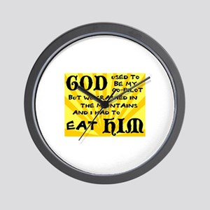 God was my Co-Pilot Wall Clock