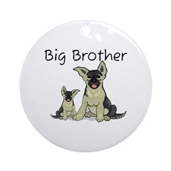 Dogs GS Big Brother Ornament (Round)