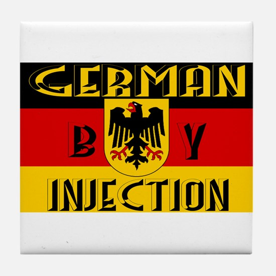 German by Injection Tile Coaster