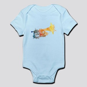 Paint Splat Mellophone Infant Bodysuit